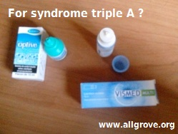 syndrome triple A collyre